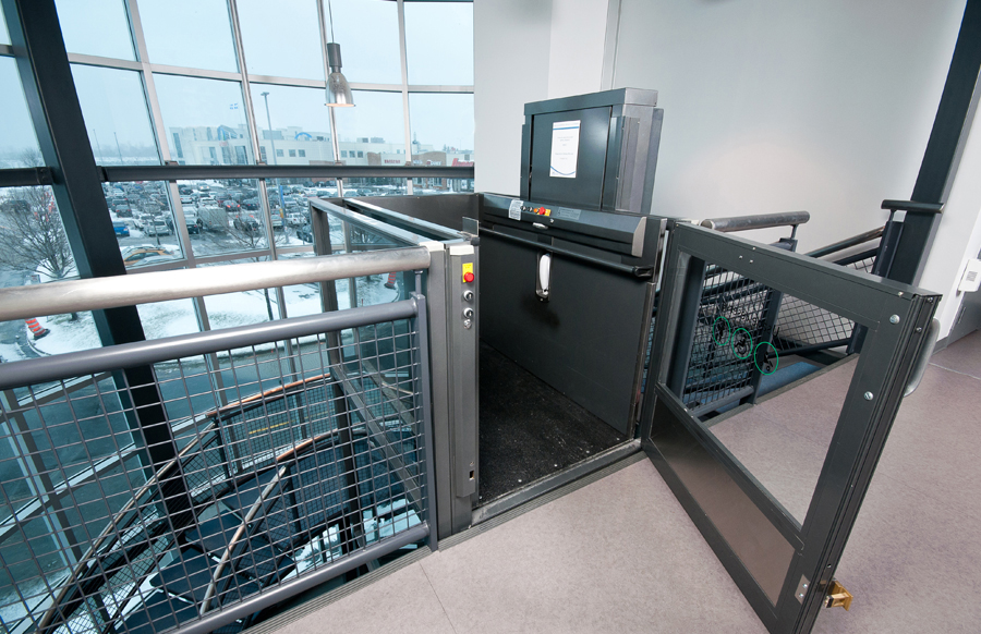 Vertical Wheelchair Lifts : Apex elite stainless steel vertical wheelchair lift